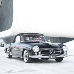 Black 1957 Mercedes Benz #190SL