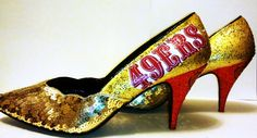 Size 7 1/2  San Francisco 49ers Heel by ShOoDesigns on Etsy, $45.00