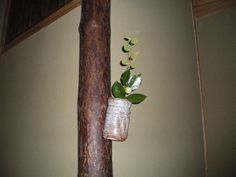 Flower: camellia(tsubaki),buttercup winter hazel(iyo-mizuki) FlowerContainer: ceramic(nezumi-shino-tabimakura vase) 2011.11.19