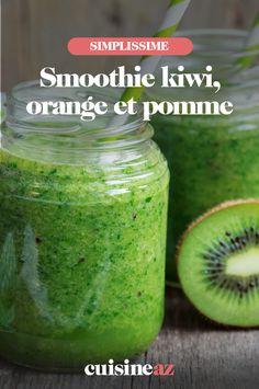 Il y a toujours une bonne occasion pour préparer ce smoothie kiwi, orange et pomme. #recette#cuisine#boisson#smoothie #fruit Avocado Smoothie, Smoothie Fruit, C'est Bon, Orange, Cucumber, Smoothies, Food And Drink, Drinks, Smoothie
