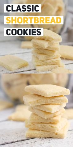 Shortbread cookies made with just flour butter and sugar are melt in your mouth classic delicious perfection! Shortbread cookies made with just flour butter and sugar are melt in your mouth classic delicious perfection! Chocolate Marshmallow Cookies, Chocolate Chip Shortbread Cookies, Toffee Cookies, Spice Cookies, Yummy Cookies, Bar Cookies, Sandwich Cookies, Chocolate Ganache, Homemade Shortbread