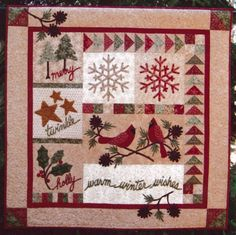 moda quilts | Warm Winter Wishes by Pam Puyleart for Cottage Creek Quilts : CCQ172