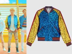 BTS Jimin (지민) wore gliter bomber jacket in BTS 'DNA' Music Video It is the GUCCIsequin bomber jacket. Get them HERE for $6,250 Available from : Farfetch – $6,250 Related PostsBLACKPINK Lisa Wear Prada Skirt on the cover of Numéro...