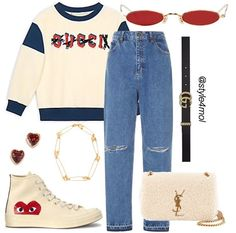 Cute Casual Outfits, Outfits For Teens, Stylish Outfits, Mode Streetwear, Streetwear Fashion, Tomboy Fashion, Fashion Outfits, Mode Chanel, Looks Vintage