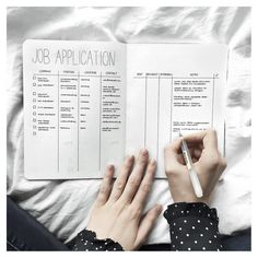 Bullet Journal Job Collection by @journalspiration