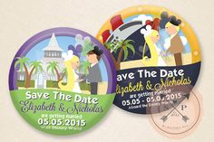 Celebrate - DIY Printable Celebration Button Save The Date Design File