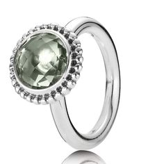75f1fb77f Official Pandora Silver and Green Amethyst Autumn Skies Ring from John  Greed Jewellery.