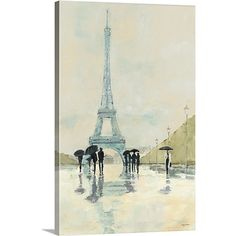"""Great Big Canvas """"April in Paris"""" by Avery Tillmon Painting Print on Canvas"""