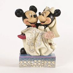 Jim Shore Disney Congratulations Mickey and Minnie Wedding Figurine 4033282 wedding cake topper Mickey Minnie Mouse, Minnie Mouse Cake Topper, Mickey And Minnie Wedding, Disney Mickey, Hidden Mickey Wedding, Walt Disney, Disney Figurines, Collectible Figurines, Disney Weddings