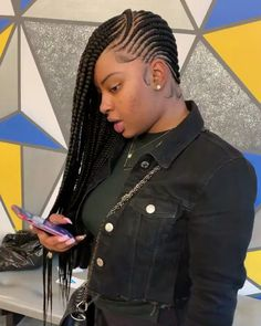 Are you looking for the best human hair wigs online? take your time and try our top quality wigs now! # feed in Braids cornrows How do you like this braiding hairstyles? Lemonade Braids Hairstyles, Feed In Braids Hairstyles, Braids Hairstyles Pictures, Black Girl Braided Hairstyles, Braided Ponytail Hairstyles, Black Girl Braids, Braids For Black Hair, Girls Braids, Wig Hairstyles