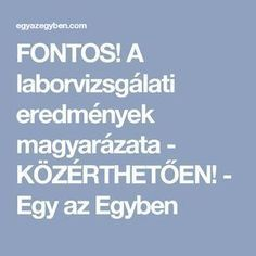 FONTOS! A laborvizsgálati eredmények magyarázata - KÖZÉRTHETŐEN! - Egy az Egyben Labor, Coffee Recipes, Helpful Hints, The Cure, Vitamins, Lose Weight, Health Fitness, Education, Healthy