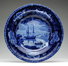 Enoch Wood and Sons (England, 1818-1846), Soup Plate: 'The Beach at Brighton', circa 1820-1830, Los Angeles County Museum of Art, Gift of Miss Bella Mabury (M.53.13.1),