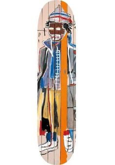 A recent Purchase - Anthony Clarke Skate Deck by Jean Michel Basquiat