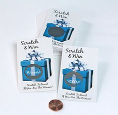 Scratch and Win Scratch Off Game Cards for Party Favors Promotional  Fundraising Kit for Guests 25 Cards My Scratch Offs LLC ** Continue to the product at the image link.