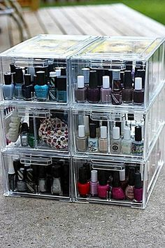 Nail polish case- perfect for people like me who don't want to display their polish on their walls...like a salon.