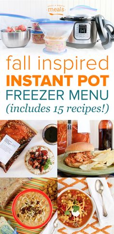 Fall Instant Pot Monthly Freezer Meal Plan Vol. Crock Pot Freezer, Freezer Cooking, Crock Pot Cooking, Freezer Meals, Chest Freezer, Cooking Ribs, Camping Cooking, Freezer Recipes, Best Instant Pot Recipe
