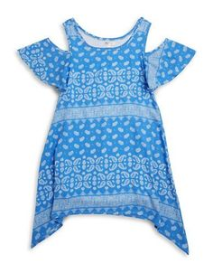 SALLY MILLER Girls 7-16 Paisley Cold Shoulder Dress Spring Dresses, Blue Dresses, Sally Miller, Lord & Taylor, Favorite Color, Paisley, Kids Fashion, Cold Shoulder Dress, Girls
