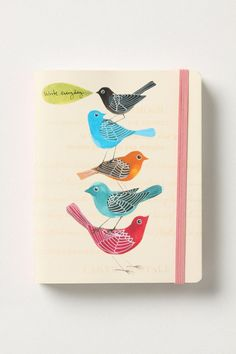 The original pinner says: Found on October Afternoon's Daily Dose of Creativity - if only all notebooks were this pretty !