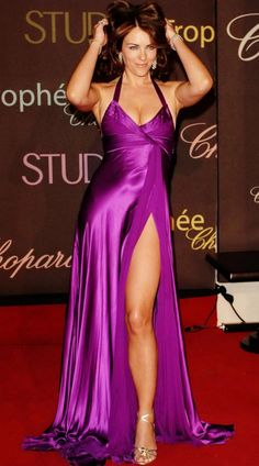 Elizabeth Hurley...i will have that dress one day !
