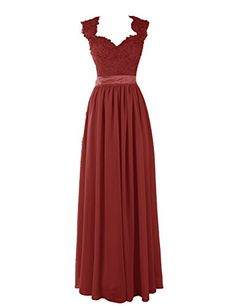 Diyouth Lace Scoop Cap Sleeves Sweetheart Prom Dresses Formal Gowns Burgundy Size 2 Diyouth http://www.amazon.com/dp/B00QKAASTW/ref=cm_sw_r_pi_dp_3vjOub100FABA