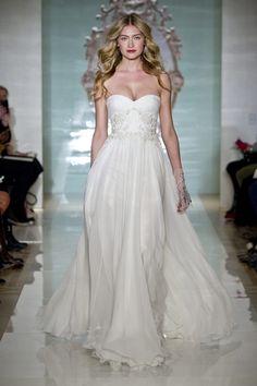 Reem Acra - Sweetheart A-Line Gown in Silk Chiffon