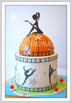 girly basketball cake...of course I find this 1 week after I did a girl's basketball cake