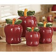 Canisters, 4-Piece... lots of apple things on website...