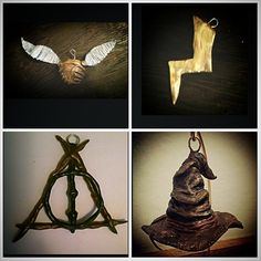 These 4 Harry Potter inspired ornments are the first series of my collection! Each set made to order and hand sculpted. So each set is a lil