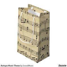 Antique Music Theme Small Gift Bag