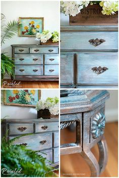 How To Paint Laminate Furniture Without Sanding - Salvaged Inspirations