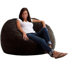 Cheap Bean Bag Chairs for Teens | Large 4' Fuf Comfort Suede Bean Bag Chair, Multiple Colors