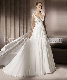 Gorgeous Empire Scoop  Floor-Length Chiffon  Wedding Dresses 2014 Spring Trends