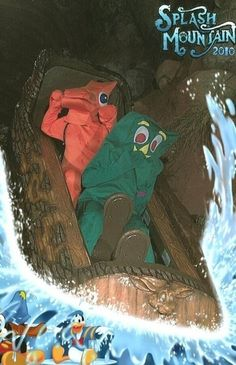 The Gumby | Community Post: 19 Hilarious Pictures Of People Posing On Splash Mountain. What is even going on here...?! LOL