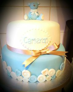 Christening, Birthday Cake, Weddings, Desserts, Food, Tailgate Desserts, Deserts, Birthday Cakes, Wedding