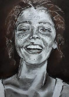 Happy freckles - pastel, 2020 Freckles, My Arts, Pastel, Happy, Fictional Characters, Cake, Ser Feliz, Fantasy Characters, Crayon Art