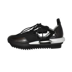 Yohji Yamamoto Black and white Cut-out shoes | From a collection of rare vintage shoes at http://www.1stdibs.com/fashion/accessories/shoes/