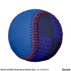 Black and Blue Fade-Away Pattern Baseball
