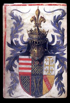 The arms of René d'Anjou, King of Naples