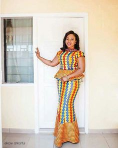 drooling over this beautiful style, colour and pattern of this kente fabric ordered from and creatively knit together by indeed princess Tilly looked fab on her engagement day Hair and Make up by Video by Decor by Photo by African Print Dresses, African Print Fashion, Africa Fashion, African Fashion Dresses, African Dress, African Clothes, African Prints, Men Fashion, African Attire