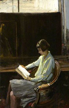 "huariqueje: "" Alice - Sir John Lavery , 1919 Irish, 1856 - 1941 cm in. Reading Art, Woman Reading, Reading Books, Carl Spitzweg, People Reading, Irish Painters, Books To Read For Women, Giovanni Boldini, Fine Art Prints"