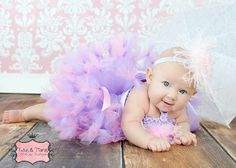 Blossom Wishes Lilac Feathers Baby Crochet by PoshBabyGirlTutus, $55.00
