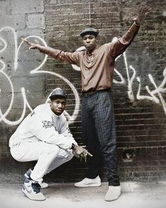 Boogie Down Producti Boogie Down Productions Scott La Rock and KRS One 80s Hip Hop, Hip Hop Rap, Love N Hip Hop, Hip Hop And R&b, Hiphop, I Love Music, Good Music, Boogie Down Productions, Jamel Shabazz
