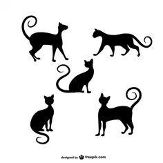 Pack de siluetas de gatos | Descargar Vectores gratis