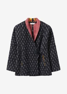 Our Reversible Kantha Jacket is made from recycled saris by an Indian cooperative. Coats For Women, Jackets For Women, Clothes For Women, Saris, Quilted Clothes, Sewing Clothes, Classic Trench Coat, Textiles, Kimono Jacket