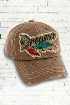 08eb12d63a3 Kbethos Vintage - Brown Distressed Dreamer Cap