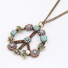 Collares 2017 Fashion Long Chain Necklaces Pendants for Women Men Jewelry Vintage Peace Symbol Necklace Collier Joyeria