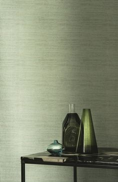 Casamance behang Azuli Modern Wallpaper, Wall Wallpaper, Wall Design, House Design, Casamance, Green Home Decor, Green Rooms, Apartment Design, Home Bedroom