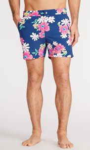 Surfside Board Short - Navy Lanai Floral - 5 in