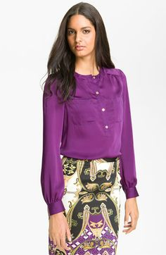 Vince Camuto Henley Blouse available at #Nordstrom