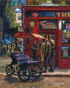 """Temple Bar, Ireland"" original fine art by Donald Curran"